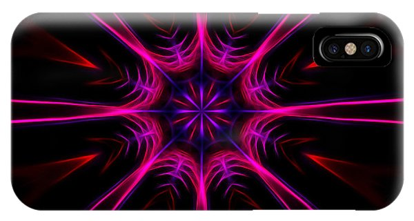 Pink Starburst Fractal  IPhone Case