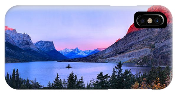 Rocky Mountain Np iPhone Case - Pink Sunrise Peaks At St. Mary by Adam Jewell