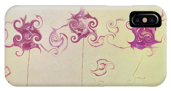 Simple iPhone Case - Pink Swirls by Amelle Eley