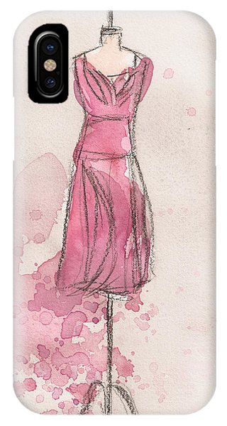 iPhone Case - Pink Tulip Dress by Lauren Bolshakov