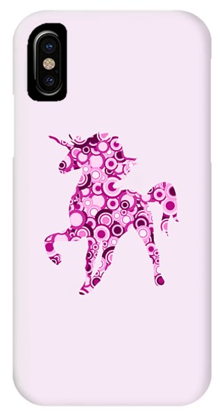 Pink Unicorn - Animal Art IPhone Case
