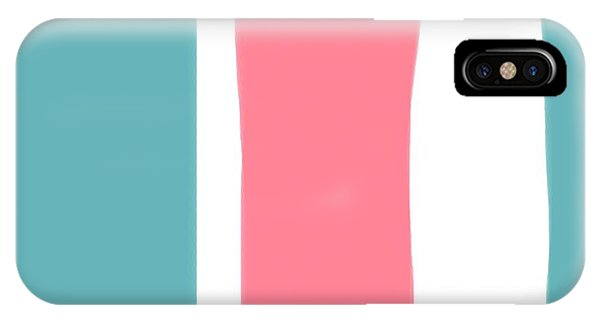 Pink White Blue 2 IPhone Case