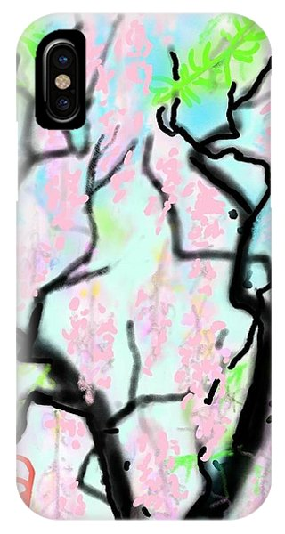 Pink Wisteria IPhone Case