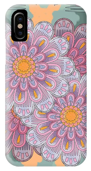 Pink Zinnia Mandala IPhone Case