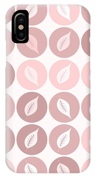 Autumn iPhone X Case - Pinkish Leaves by Gaspar Avila