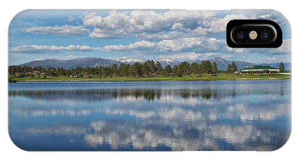 IPhone Case featuring the photograph Pinon Lake Reflections by Jason Coward