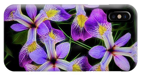 Pinwheel Purple Iris Glow IPhone Case