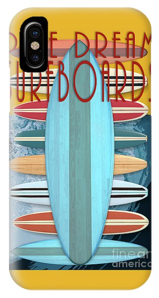 IPhone Case featuring the digital art Pipe Dream Surfboards 4 by Edward Fielding
