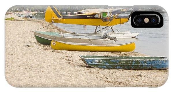 Piper Super Cub Floatplane Near Pond In Maine Canvas Poster Print IPhone Case