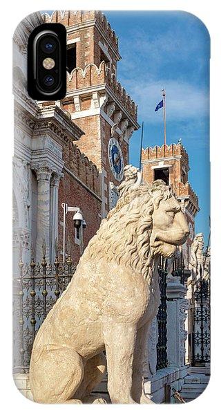 IPhone Case featuring the photograph Piraeus Lion by Fabrizio Troiani