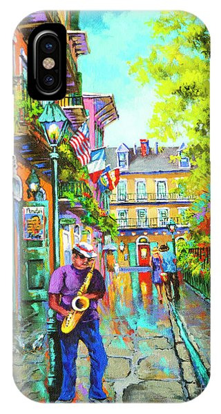 French Artist iPhone Case - Pirate Sax  by Dianne Parks