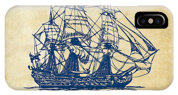 Pirate Ships iPhone Case - Pirate Ship Artwork - Vintage by Nikki Marie Smith