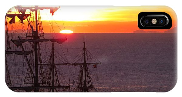 Pirate Sunset 2 IPhone Case