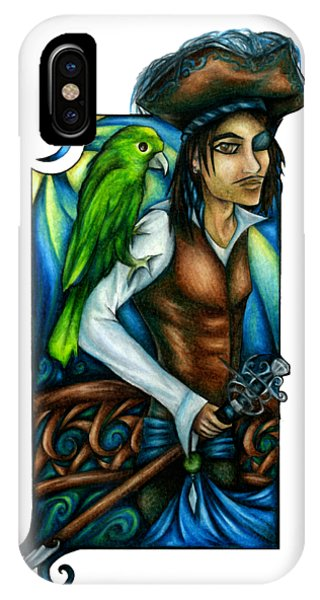 Pirate With Parrot Art IPhone Case
