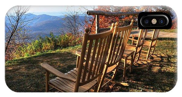 Pisgah Inn's Rocking Chairs IPhone Case
