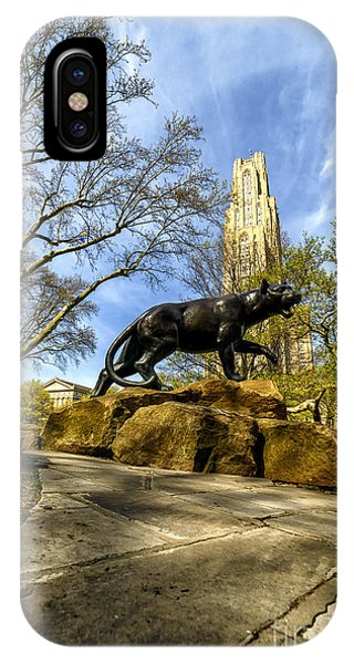 iPhone Case - Pitt Panther Cathedral Of Learning by Thomas R Fletcher