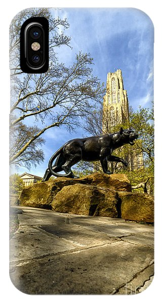 Pitt Panther Cathedral Of Learning IPhone Case
