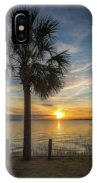 Pitt Street Bridge Palmetto Tree Sunset IPhone Case