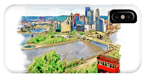 Pittsburgh Aerial View IPhone Case