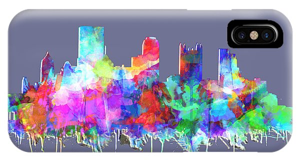 Pittsburgh Skyline Watercolor 3 IPhone Case