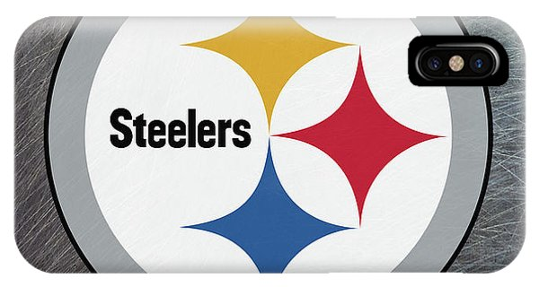 Pittsburgh Steelers On An Abraded Steel Texture IPhone Case