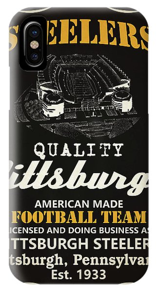 Nfl iPhone Case - Pittsburgh Steelers Whiskey by Joe Hamilton
