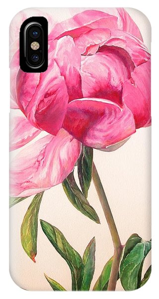 Pivoine 1 Phone Case by Muriel Dolemieux