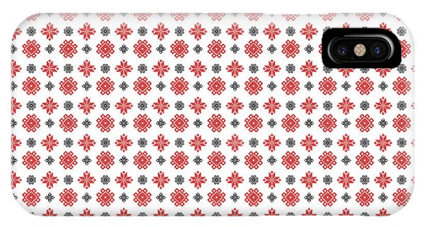 IPhone Case featuring the digital art Pixel Christmas Pattern by Becky Herrera