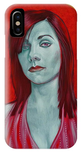 IPhone Case featuring the painting Pj Harvey by Jovana Kolic