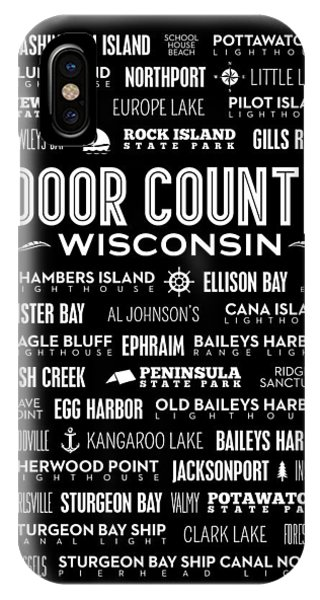 Kangaroo iPhone Case - Places Of Door County On Black by Christopher Arndt