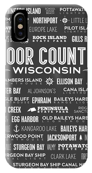 Places Of Door County On Gray IPhone Case