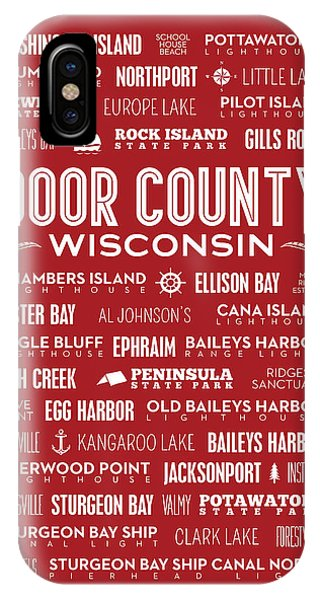 Places Of Door County On Red IPhone Case