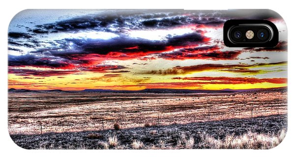 IPhone Case featuring the photograph Plains Sunset by Beauty For God