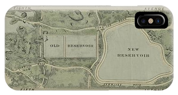 Plan Of Central Park City Of New York 1860 IPhone Case