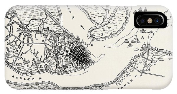 Plan Of The Siege Of Charleston IPhone Case