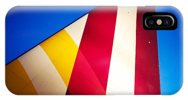 Detail iPhone Case - Plane Abstract Red Yellow Blue by Matthias Hauser