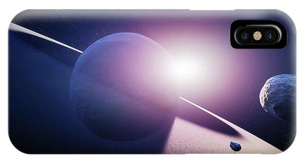 Solar System iPhone Case - Planet Saturn Sunrise by Johan Swanepoel