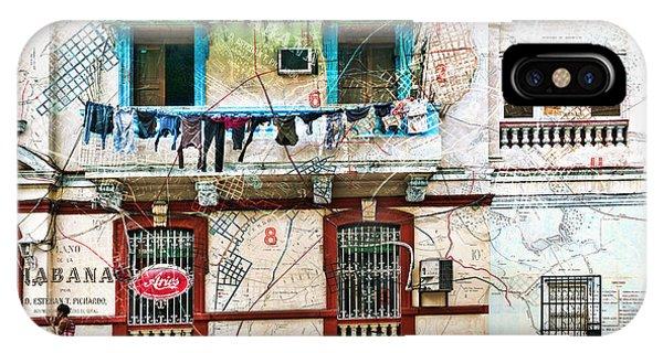 Plano De La Habana IPhone Case