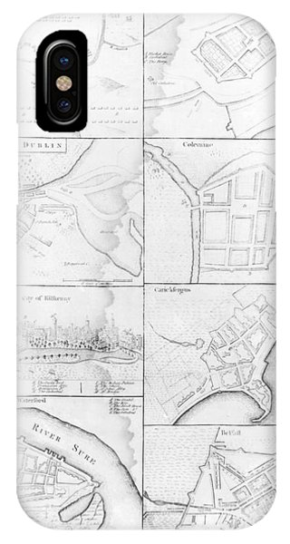 Plans Of The Principle Towers, Forts And Harbors In Ireland  IPhone Case