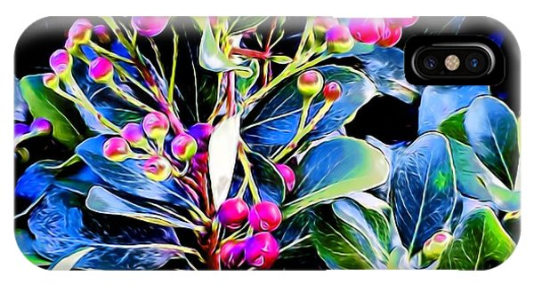 Plant 14 In Abstract IPhone Case