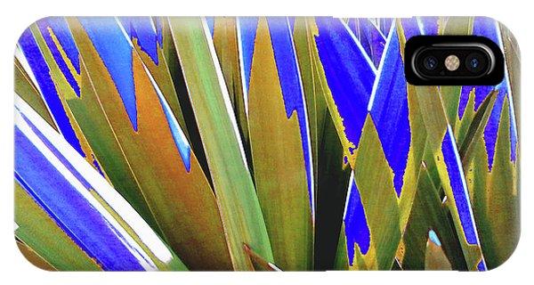 Plant Burst - Blue IPhone Case