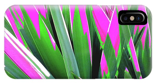 Plant Burst - Pink IPhone Case