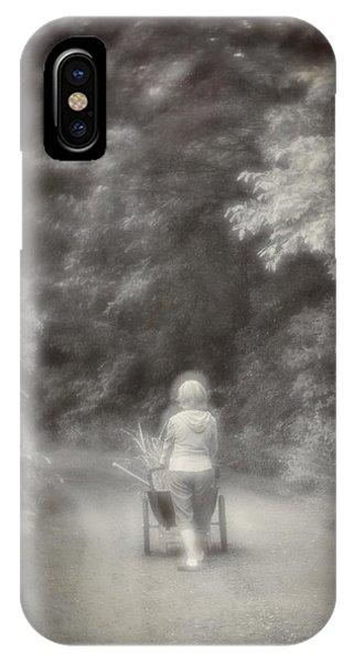 Planting-sepia IPhone Case