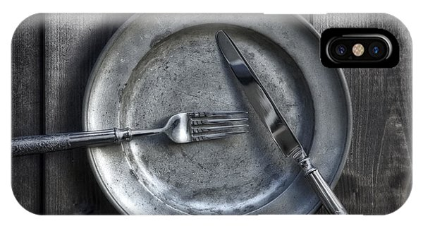 Plate With Silverware IPhone Case