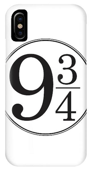 Platform Nine And Three Quarters - Harry Potter Wall Art IPhone Case
