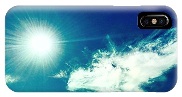 Platinum Rays And Angelic Cloud Bless The Prairie IPhone Case