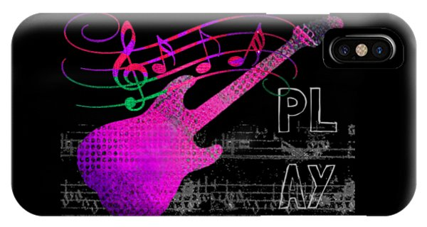 IPhone Case featuring the digital art Play 5 by Guitar Wacky