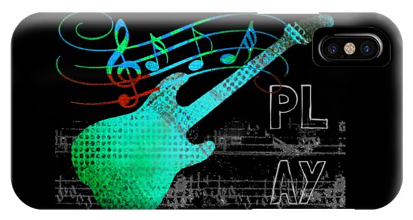 IPhone Case featuring the digital art Play 4 by Guitar Wacky