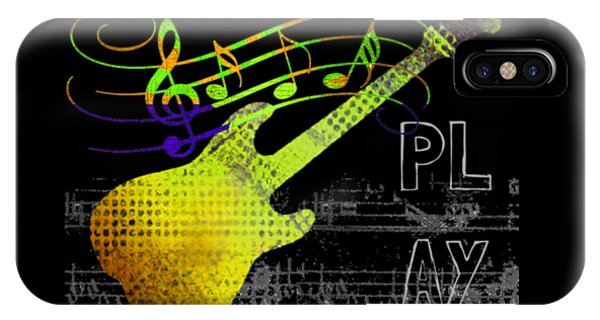 IPhone Case featuring the digital art Play 2 by Guitar Wacky