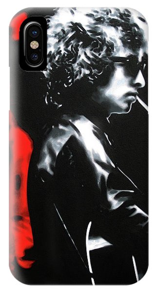 Bob Dylan iPhone Case - Play It Fuckin' Loud by Hood alias Ludzska